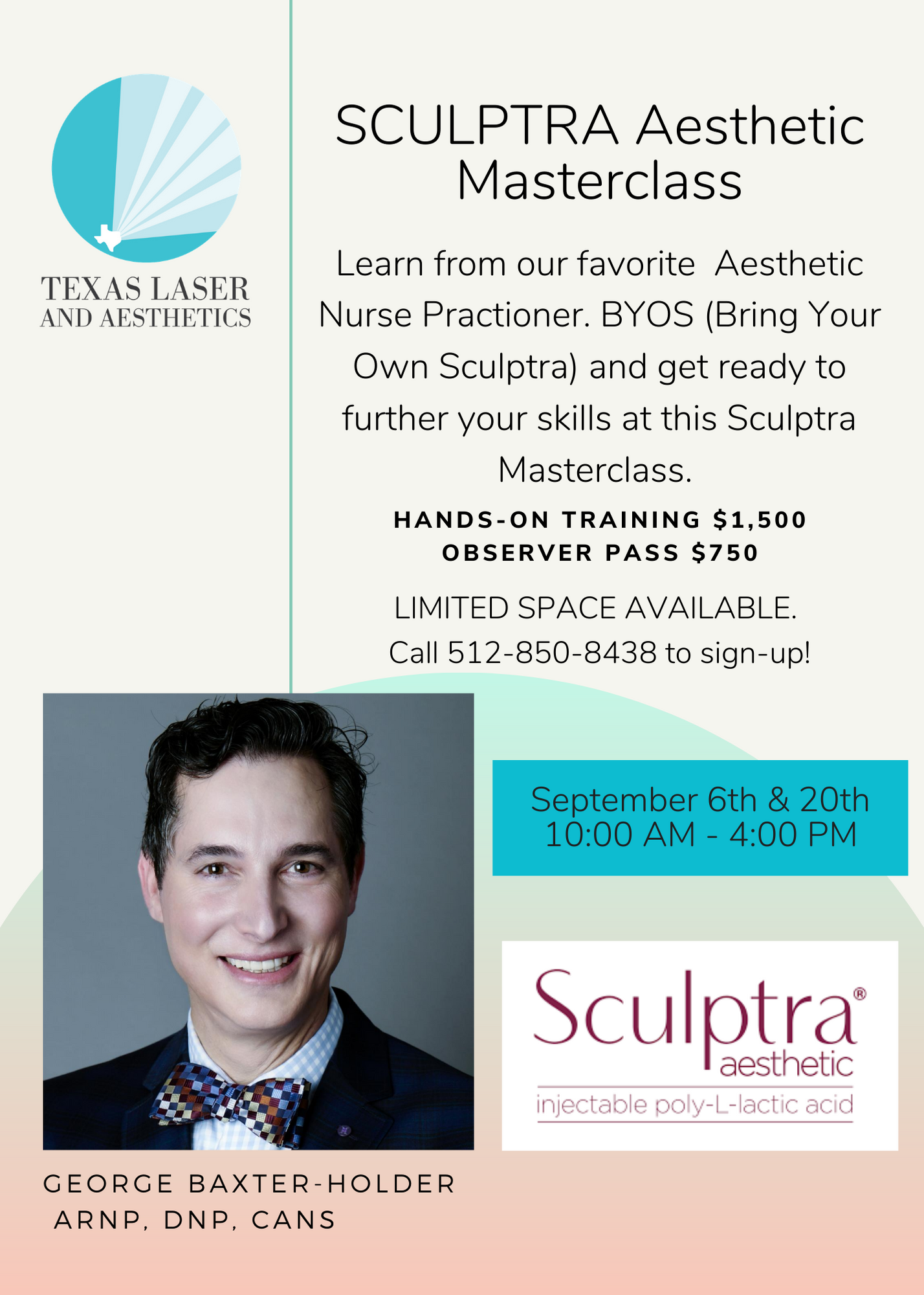 , Sculptra Training with George Baxter-Holder